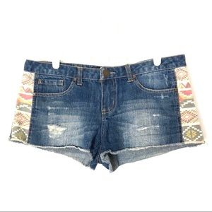 O'Neill Denim Jean Shorts Cutoff Southwest 32x1.5